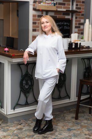Catrina: Стильный женский костюм со штанами Джогер и худи 2176 - фото 1