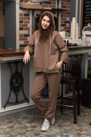 Catrina: Стильный женский костюм со штанами Джогер и худи 2171 - фото 1