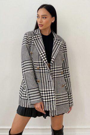 Jadone Fashion: Пиджак на подкладке Версаль черный - фото 1