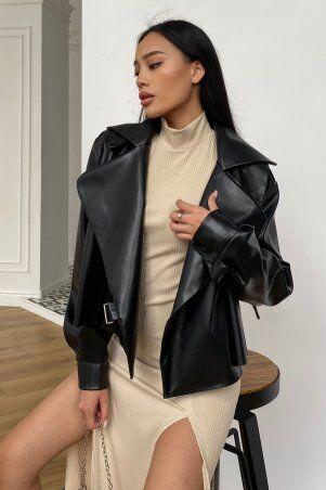 Jadone Fashion: Куртка Дейт без подкладки черный - фото 1