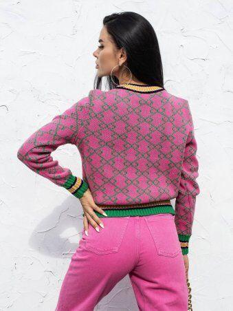 Larionoff: Джемпер Gector161 Розовый-зеленый 002130 - фото 3