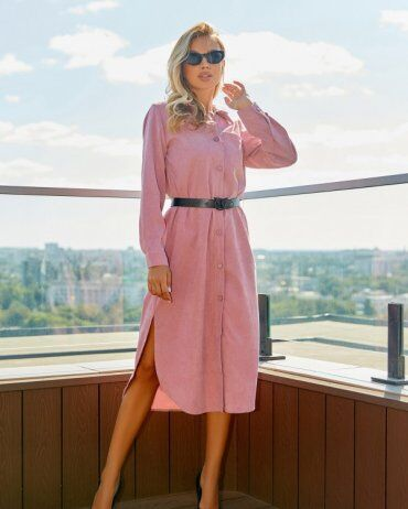 ISSA PLUS: Платья 13056_розовый - фото 1