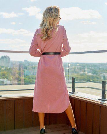 ISSA PLUS: Платья 13056_розовый - фото 3
