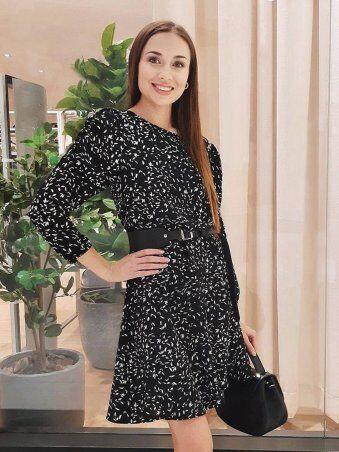 InRed: Платье с мелким узором 7758 - фото 2