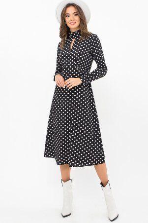 Glem: Платье Санторини-1 д/р черный-белый горох p73538 - фото 1