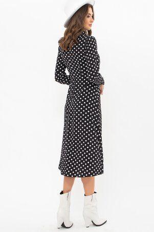 Glem: Платье Санторини-1 д/р черный-белый горох p73538 - фото 3