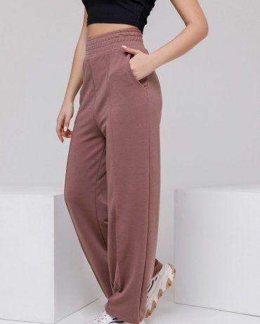 ISSA PLUS: Спортивные штаны 12312A_коричневый - фото 2