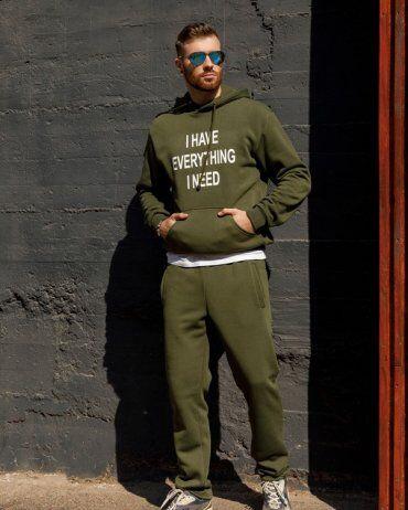 ISSA PLUS: Спортивные штаны GN-405_хаки - фото 4