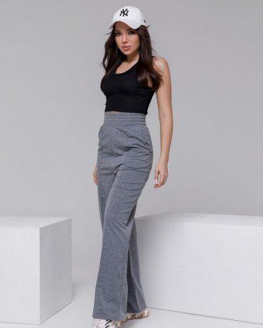 ISSA PLUS: Спортивные штаны 12312A_серый - фото 4