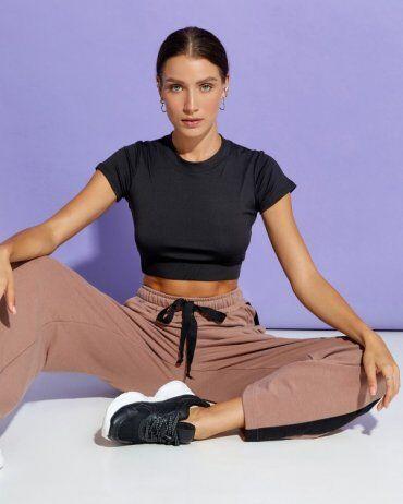 ISSA PLUS: Спортивные штаны 12910_коричневый - фото 4