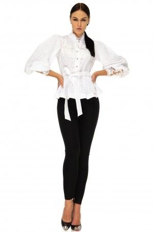 Angel PROVOCATION: Рубашка + лосины Энико бело-молочный+черный - фото 1