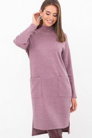 Glem: Платье Лакси д/р т. лиловый p74183 - фото 1