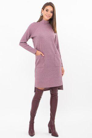 Glem: Платье Лакси д/р т. лиловый p74183 - фото 2