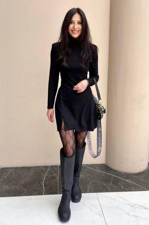 Jadone Fashion: Платье Сана черный - фото 1