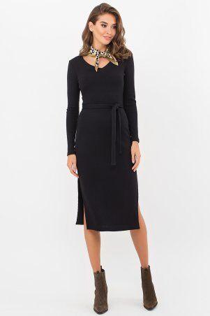 Glem: Платье Пина д/р черный p74187 - фото 1