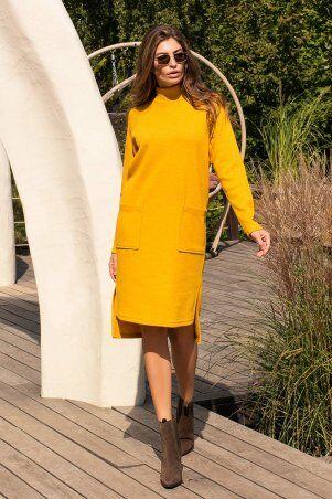 Glem: Платье Лакси д/р горчица p74180 - фото 1