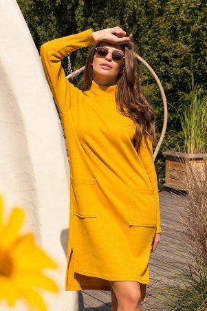 Glem: Платье Лакси д/р горчица p74180 - фото 2
