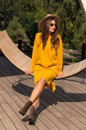Glem: Платье Лакси д/р горчица p74180 - фото 4