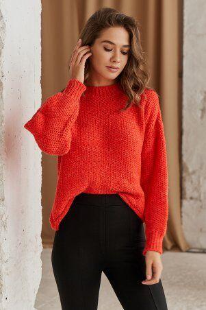 It Elle: Вязаный свитер кораллового цвета Роберта V344418 - фото 1