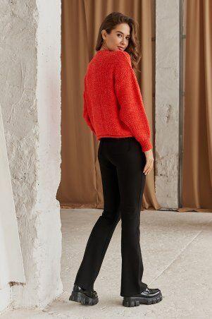 It Elle: Вязаный свитер кораллового цвета Роберта V344418 - фото 3