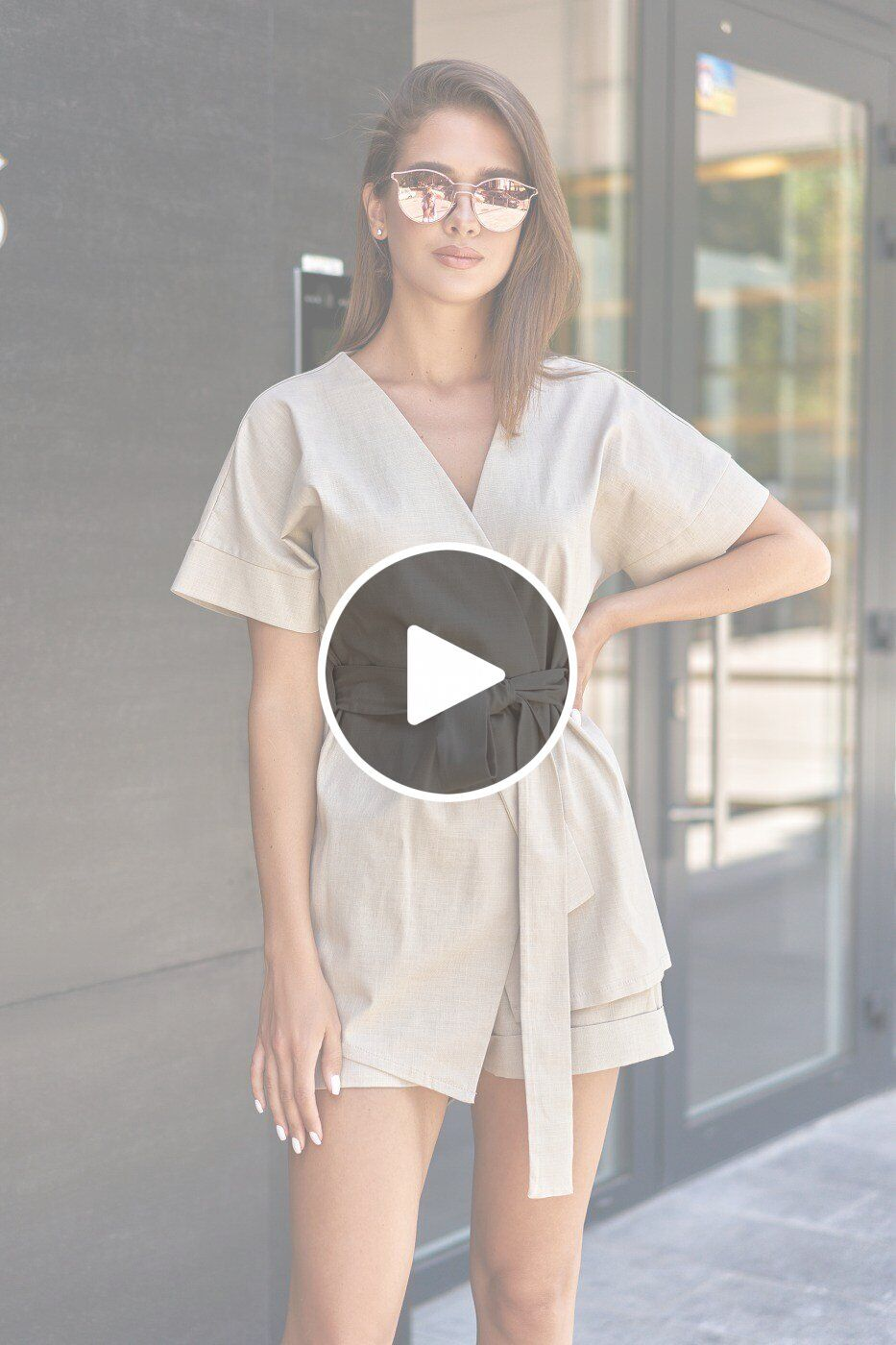 MasModa: Женский костюм Рэн с шортами М20 008 М2 - перейти к видеообзору товара